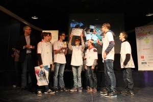 5. Teamwork 1e plaats team 4. BrickSlayers van het Bonhoeffer College Castricum