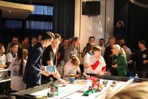 Robotwedstrijd in actie